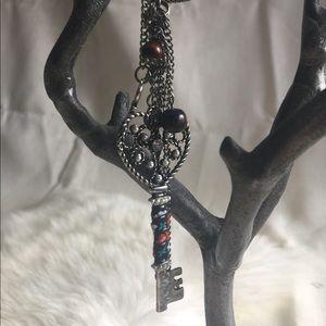 Boho Key Long Necklace